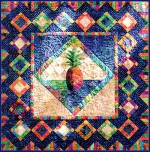 Sweet & Juicy - Quilting time Designs by Vicki Stratton - The Pineapple #108