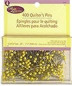Prym Quilting 400 Quilting Pins 1 3/4'' yellow plastic top