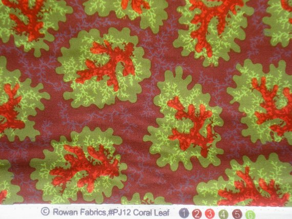 Free Spirit Philip Jacobs PJ12 Aubergine Fabric Coral Leaf Westminster Fibers