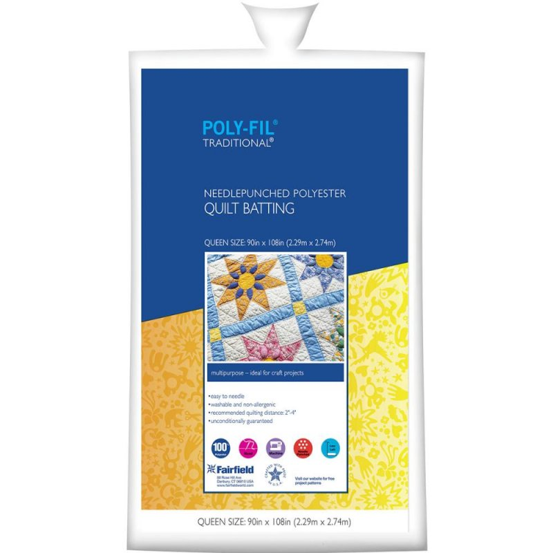 Polyester Batting 6 ounce Poly-Fil full Size 81'' x 96''