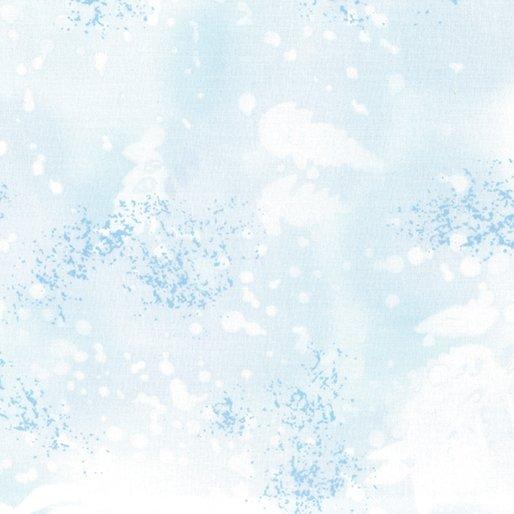 Fabric Cotton Fossil Fern 00528-2H Powder Blue