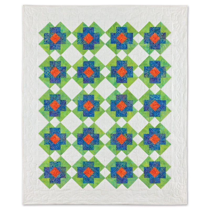 Accuquilt Go! Cutting Die Geometric Rectangle-2'' x 3 1/2'' (1 1/2'' x 3'' Finished) 55158