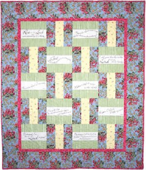 Praises and Promises Quilt Pattern with BEATITUDES PRE-PRINTED PANEL AND PATTERN Block Party Studios