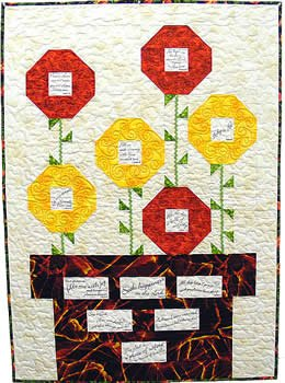 Prayer Blossoms Quilt Pattern COMFORT OF PSALMS III PRE-PRINTED PANEL AND PATTERN Block Party Studios