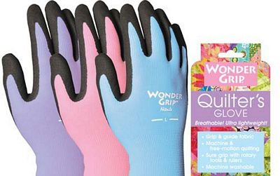 Notions Quilting Wonder Grip Quilters Gloves Assorted Colors Large