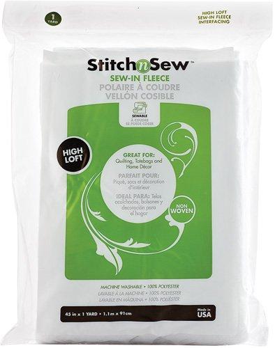 Fleece Therm O Web Stitch'n Sew Sew-In Fleece High Loft 45 x one yard