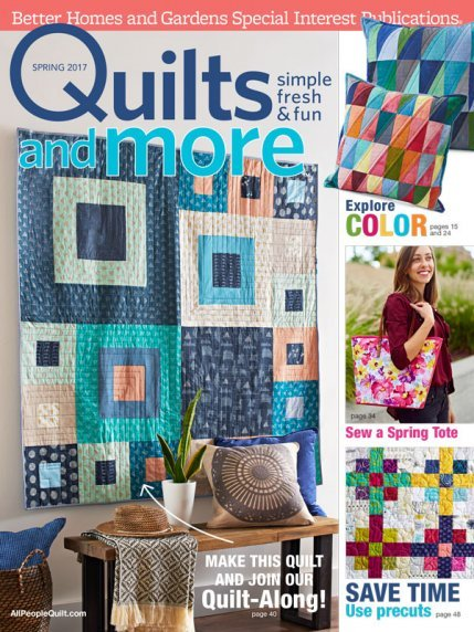 Magazine Better Homes and Gardens Specialty Publication Quilts and More Quilt magazine 2017 Spring