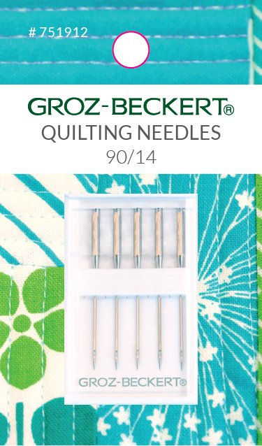 Sewing Machine Needles Groz-Beckert Carded 90/14 Quilting 5 per card