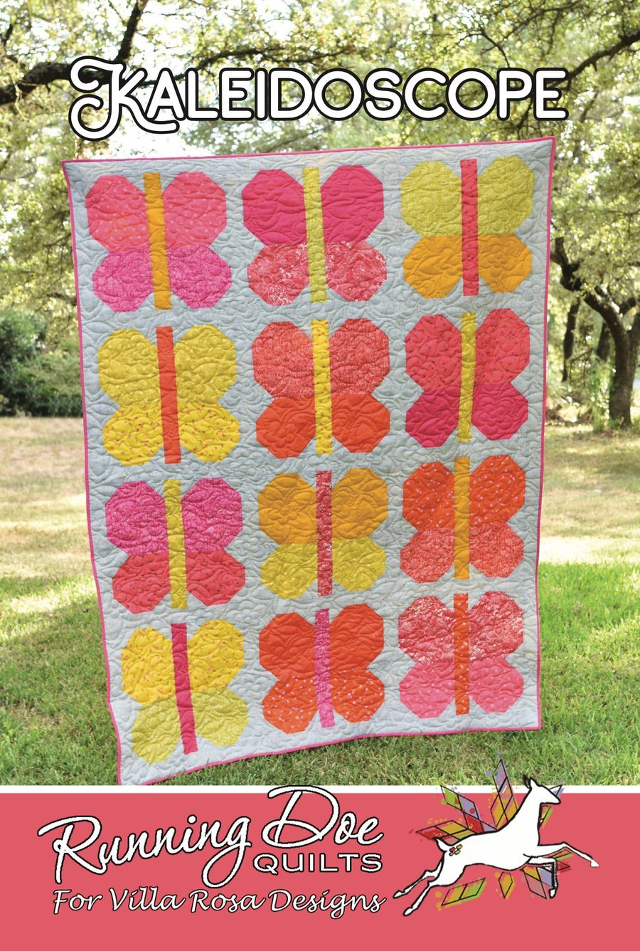 Kaleidoscope Running Doe Quilts for Villa Rosa Designs 2020  56 x 74