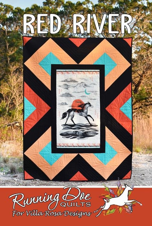 Pattern Quilting Red River by Villa Rosa Designs