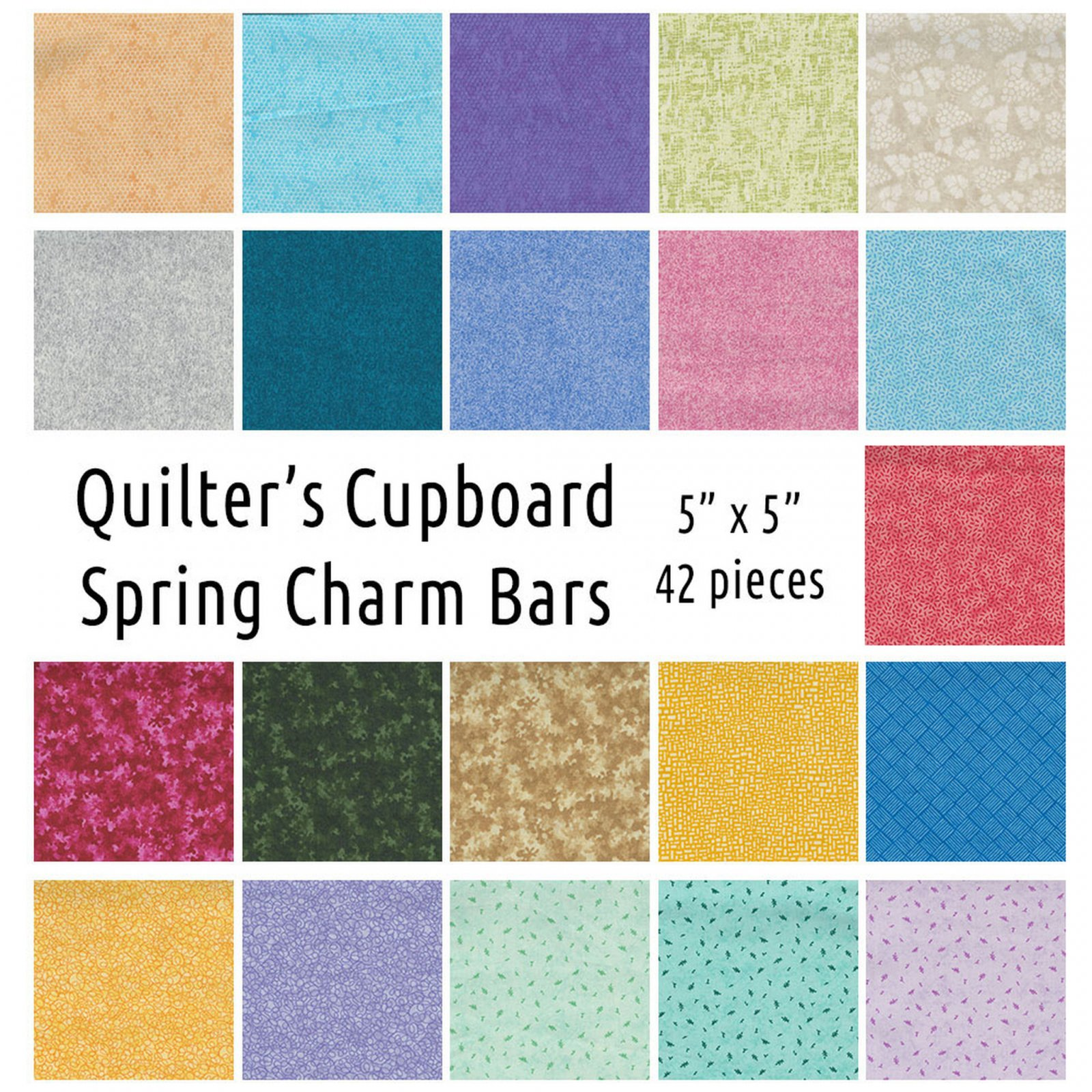 Quilter's Cupboard Spring Charm Bars 5 X 5  42 Pieces River's Bend