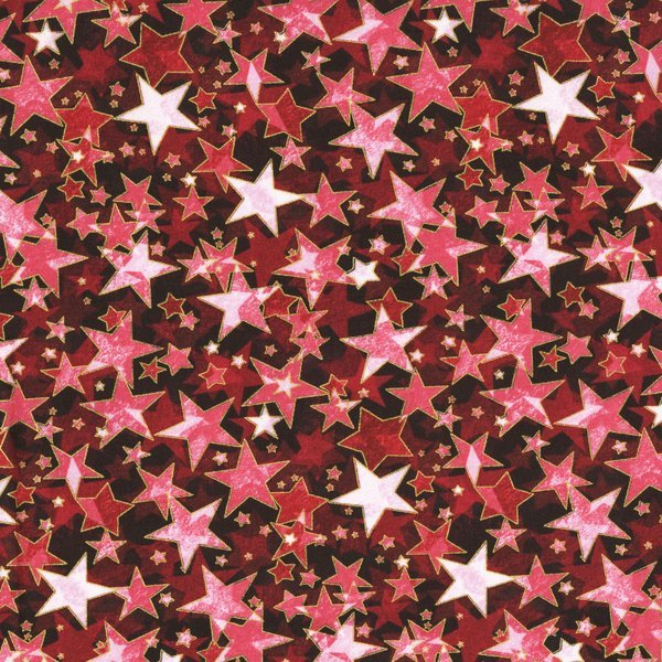 Fabric Cotton Holiday Accents Classics RJR 2016 Starburst Red Metallic Fabric By The Yard