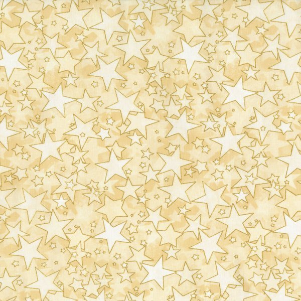 Holiday Accents Classics RJR 2016 Starburst Cream Metallic Fabric By The Yard