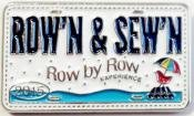 Row by Row Collector Pin 2015  Row'n & Sew'n