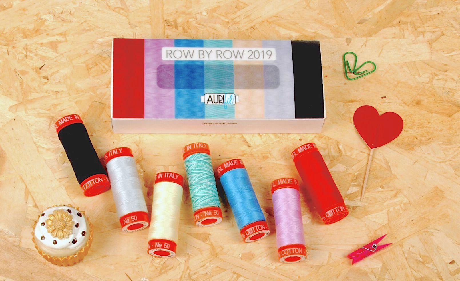 Row by Row Thread Limited Edition 7 Spool Thread collection