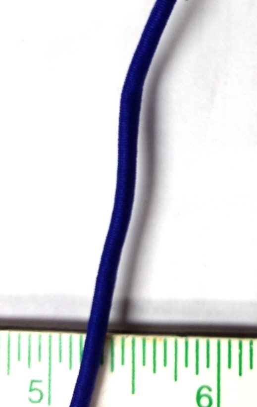 Elastic 1/8 Royal Blue Round Rayonne 903 24 covered cord in colors by the yard