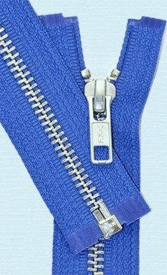 YKK Loose Package Heavyweight Aluminum Separating Metal Zipper 28 Royal Blue