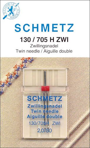 Schmetz Twin Machine Needle 2 - 130-705  Mfg 1716 size 2.0/80
