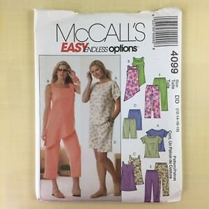 Misses Top Tunic Shorts and Capri Pants Vintage  McCall's 4099 Pattern Size (16-18-20-22)
