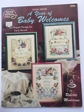Booklet American School of Needlework; Cross Stitch; A Year of Baby Welcomes; by Roberta Madeleine