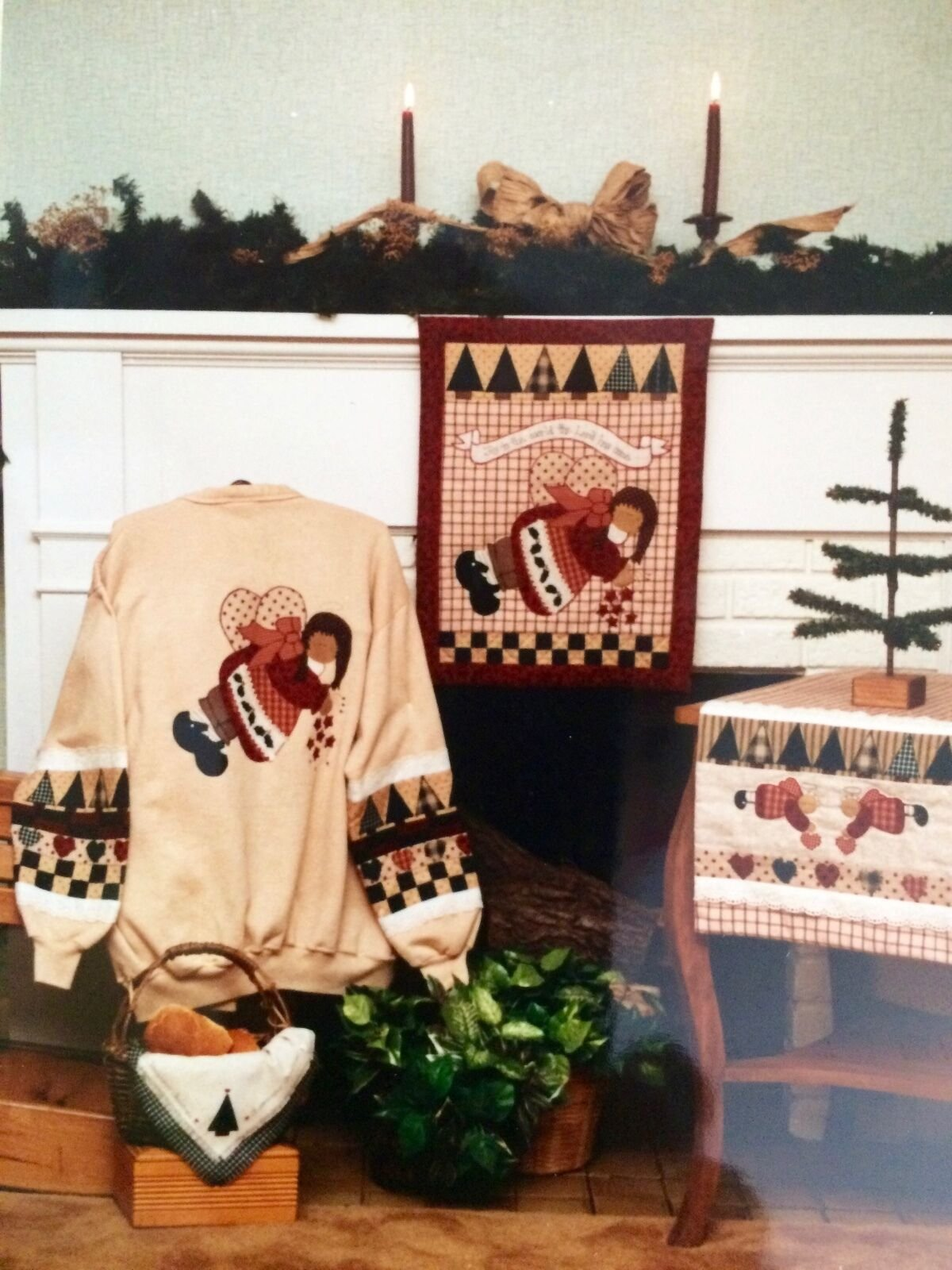 A HOMESPUN CHRISTMAS  Peace Creek Collection #24 Applique Quilt Pattern