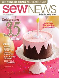 Sew News Magazine The Trusted Sewing Source February/March 2015 Issue 345