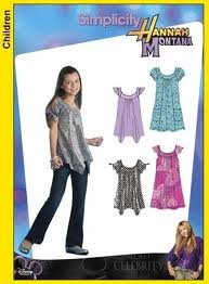 Simplicity 3514 Hannah Montana Girls/Girls Plus Mini Dress & Tunic   Size AA  8-16