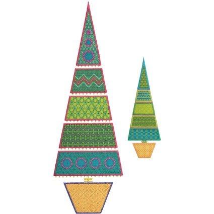 Accuquilt GO! Cutting Die Licensed Sparkle Slim Tree by Sarah Vedeler 55096