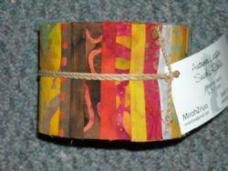 Fabric Cotton Precuts Batik by Mirah Sushi Roll Autumn Leaves