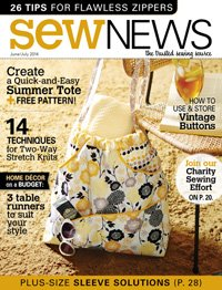 Sew News Magazine The Trusted Sewing Source June/July 2014