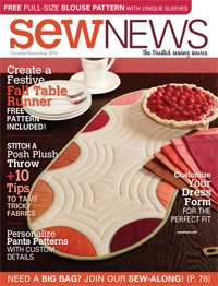 Sew News Magazine The Trusted Sewing Source October/November 2014