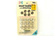 Dyno Decorative Ivory Look Snap Fastener with Attaching Tool 6 sets