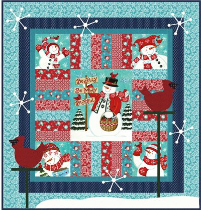 Kit Snowtime Be Jolly Quilt Kit Fabric Throw 57 x 60 Moda Fabrics