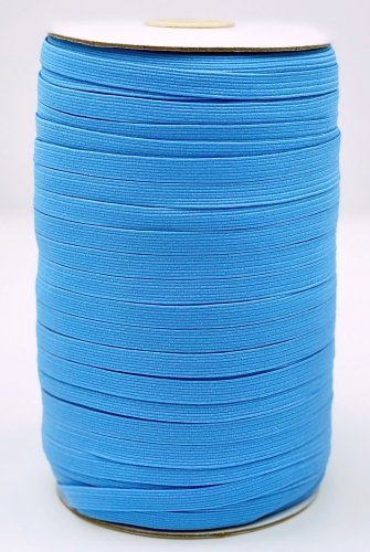 Elastic 1/4 Light Blue Woven Braided by the yard