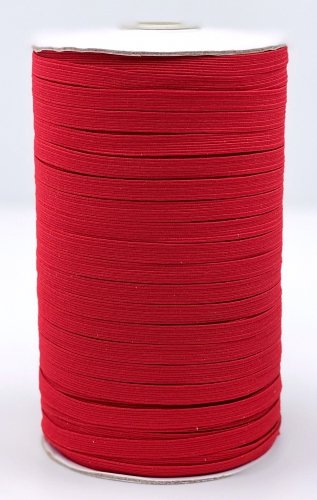 Elastic 1/4 Red Woven Braided by the yard
