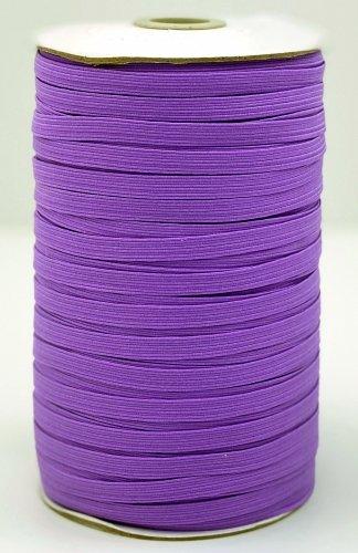 Elastic 1/4  Purple Woven Braided