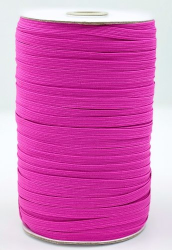 Elastic 1/4 Hot Pink Woven Braided by the yard