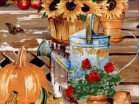 Panel 24 X 44 Panel Farmers Market Pumpkins