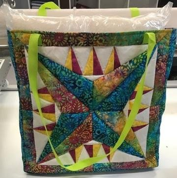Pattern Paper Piecing Star Voyage Purse with Printed Papers by David Gilleland