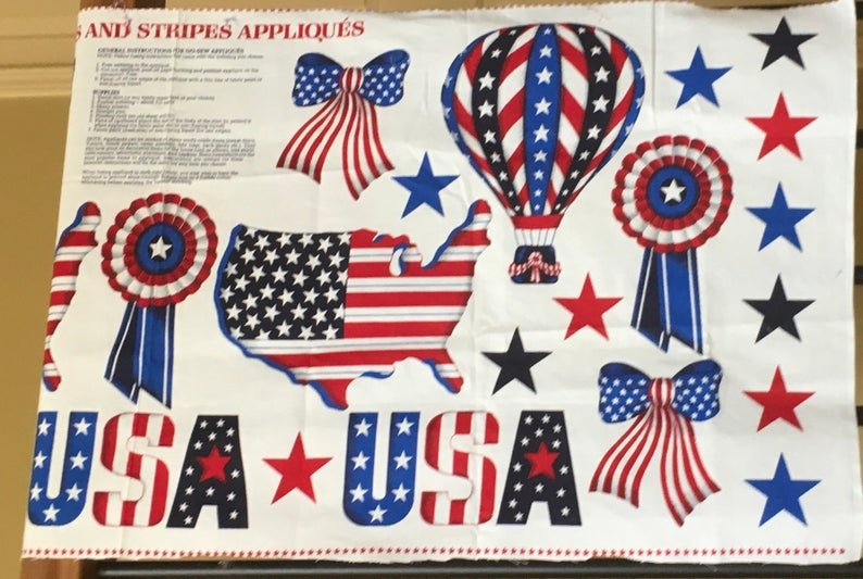 Panel 18  x WOF Stars and Stripes by VIP Cranston 44/45 100% Cotton