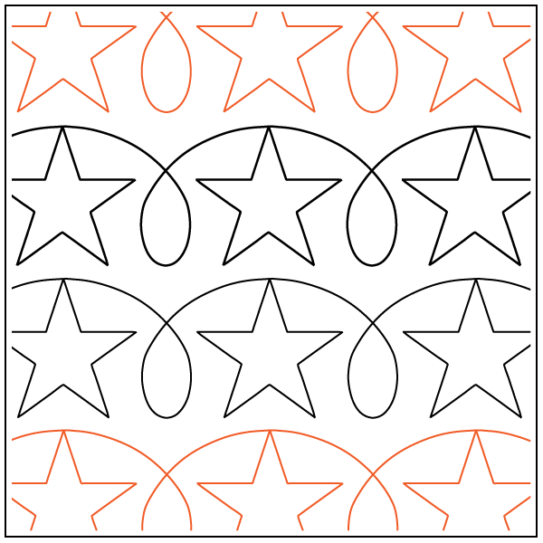 Quilting Creations HH17 Simple Sashing Quilt Stencil
