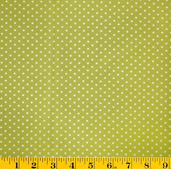 Remnant 44 x WOF Stonehill Rambling Rose White dots on Green DW3963 G