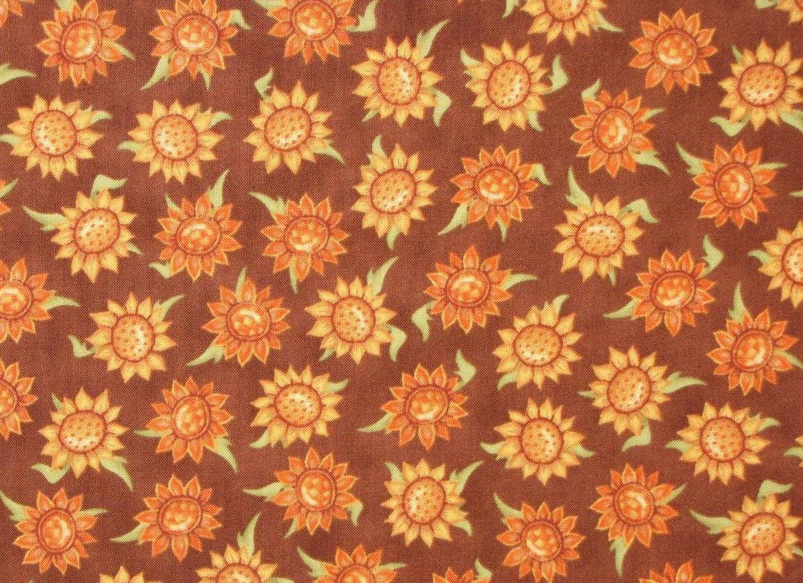 VIP Cranston Exclusive Angela Anderson Sunflowers on Brown