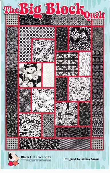 The Big Block Quilt Black Cat Creations by Minay Sirois