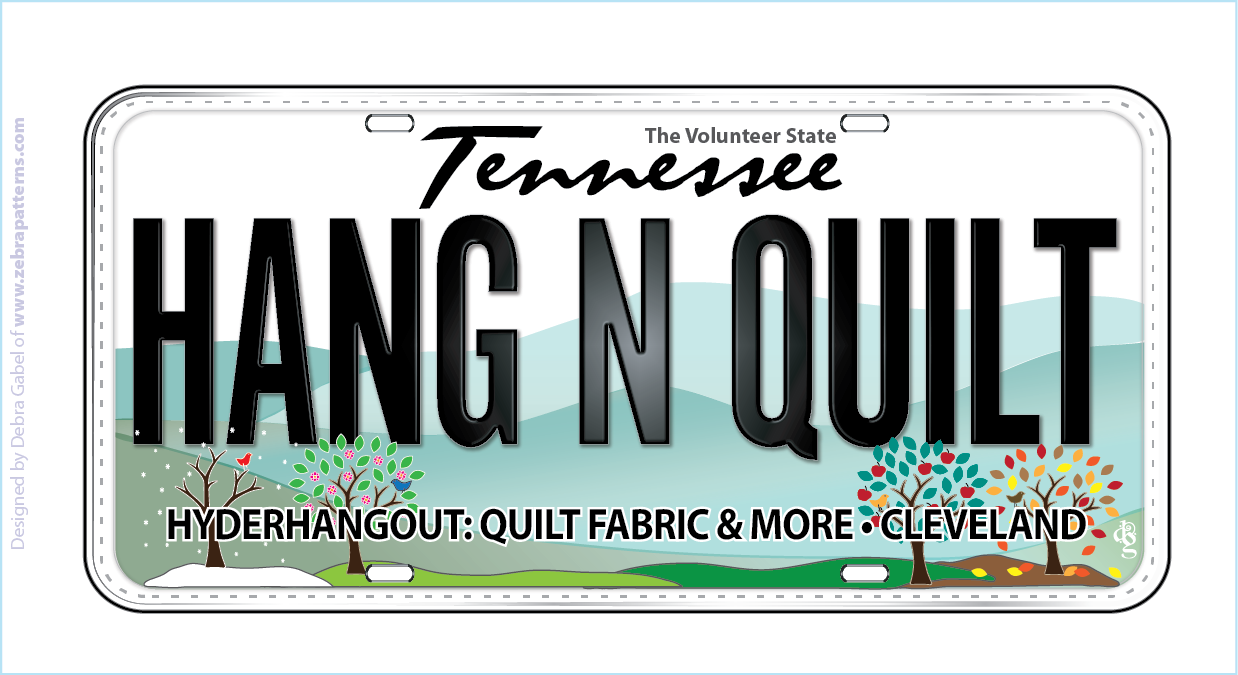 Row by Row Plate 2014 License plate Hang n Quilt