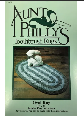 Pattern Aunt Philly's Toothbrush Rugs Oval Rug 18 x 36