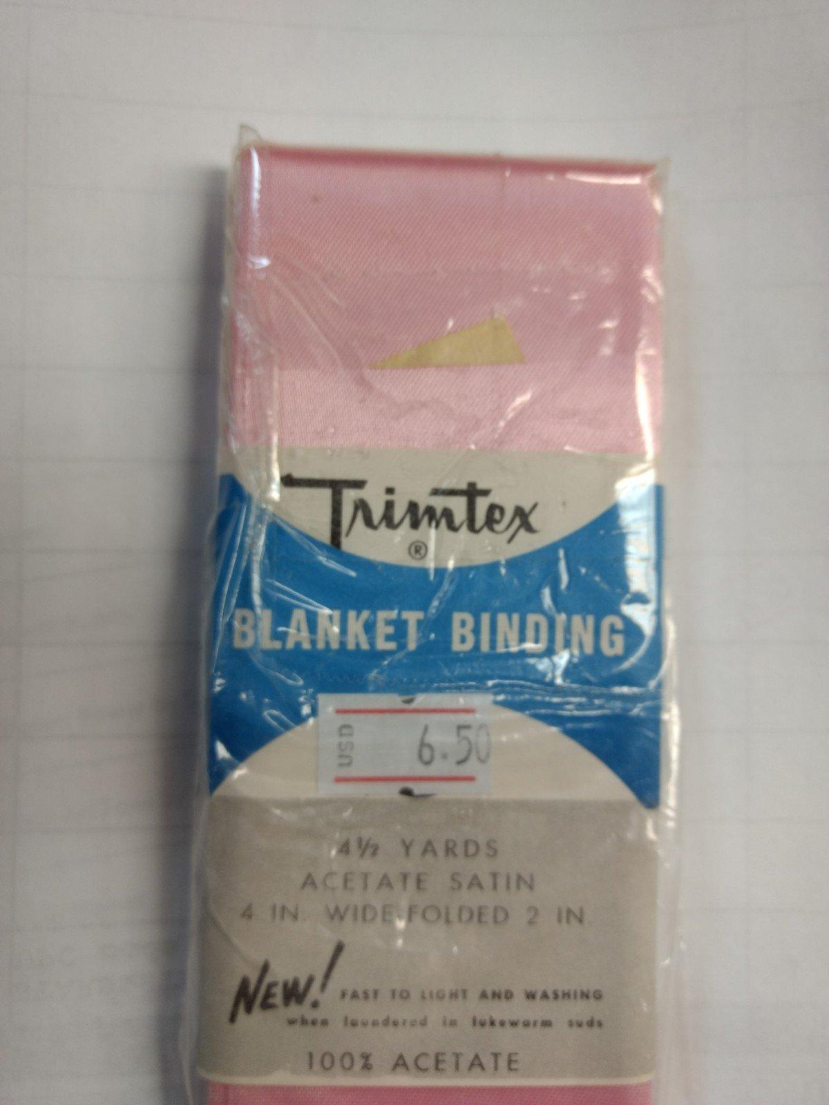 Blanket Binding Satin 2 inch 4 1/2 yards Quartz Pink #876 Trimtex