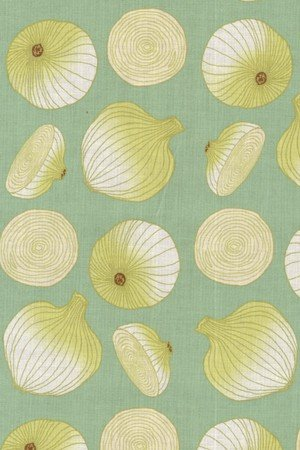 Lush Harvest Collection Troy Riverwoods Onions on light teal 1643-3