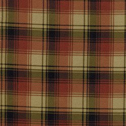 Fabric Cotton TIMELESS TREASURE -Cabin C 9128- Greens and Rusts Plaid 100% COTTON 44''/45''