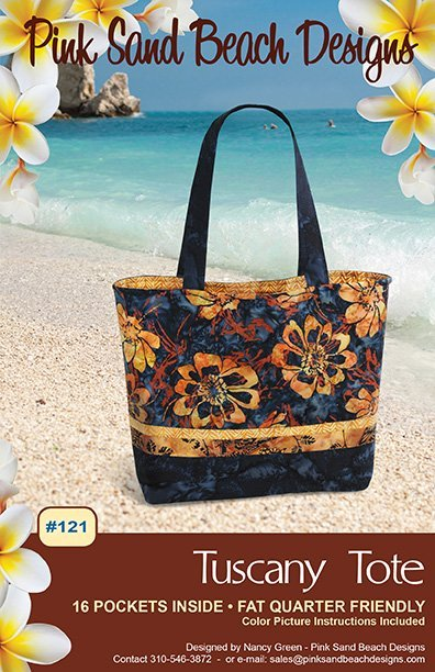 Pink Sand Beach Designs Tuscany Tote 16 pockets